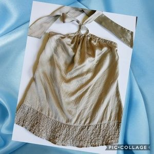 White House Black Market Silk Halter Top